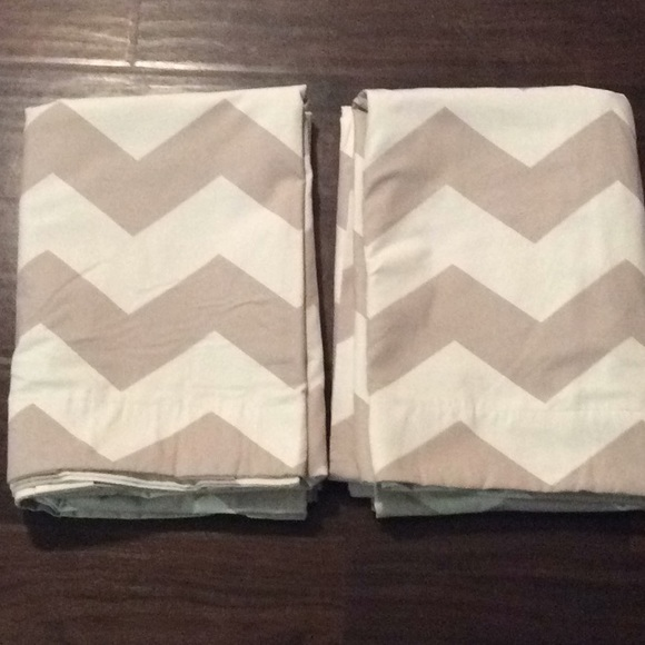 Two Pottery Barn Kids Blackout Chevron Curtains